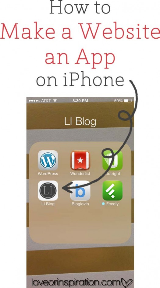 How to make a website an app on iphone love or for Home building apps for iphone